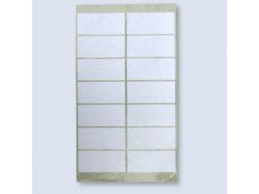 Samolepící etikety 88x40 mm, arch 14 etiket