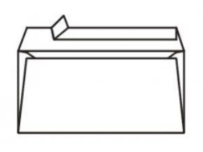 Obálky DL samolepící bílé s krycí páskou 1000ks