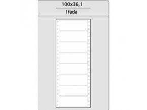 Tabelační etikety 100x36 mm - 1 řadé (4000 etiket)