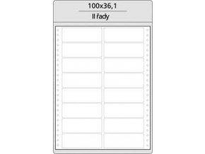 Tabelační etikety 100x36 mm - 2 řadé MB (400 etiket)
