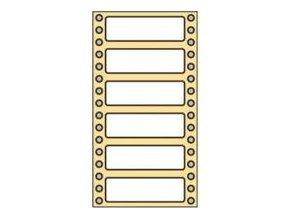 Tabelační etikety 102x36 mm - 1 řadé (8000 etiket)
