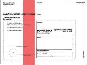 Obálky C5 doručenka červená NCR s poučením