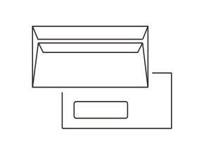 Obálky DL okénko VLEVO samolepící bílé 1000ks