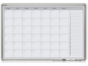 Magnetická tabule plánovací měsíční 60x90 cm Alu rám