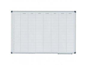 Magnetická tabule plánovací týdenní 60x90 cm Alu rám