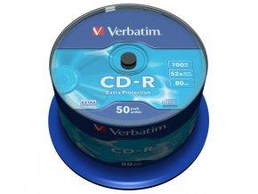 Verbatim CD-R 700MB 52x, spindle - 50ks