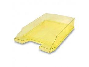 Kancelářský odkladač Donau Transparent - žlutý
