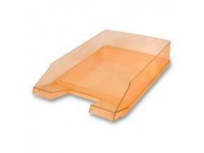 Kancelářský odkladač Donau Transparent - oranžový