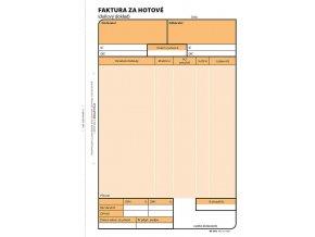 Faktura za hotové A5, samoprop., číslovaná, 2 x 50 listů 1073