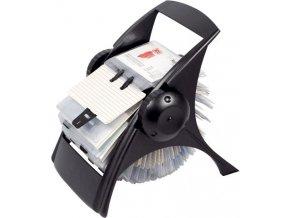 Vizitkář ICO Rotacard na 400 vizitek, černý