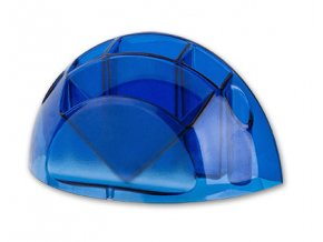 Stojánek na tužky ICO Design transparent - modrá