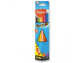 Pastelky Maped Color´Peps 12ks + ořezávátko