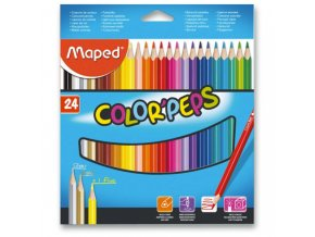 Pastelky Maped Color´Peps 24ks