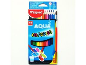 Pastelky Maped Color´Peps Aqua 12ks + štětec