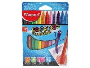 Plastové pastely Maped Color Peps Plasticlean - 12ks