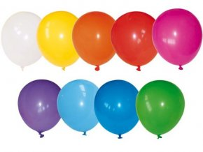 Balónky koule fluo 100ks, průměr 24cm, MIX barev