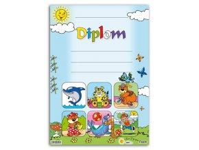Diplom A4 dětský Delfín