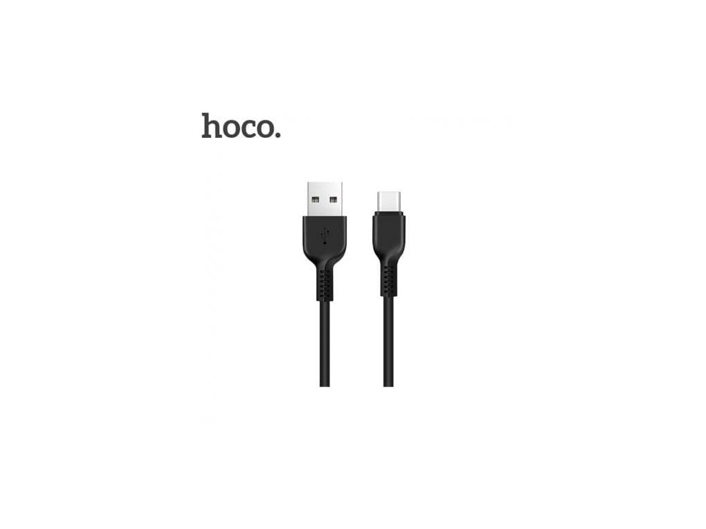 Hoco Easy Charged Type-C Charging Cable (1m) (Black)