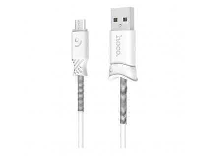 Hoco Pisces Charging Data Cable for Micro USB (1m) (White)