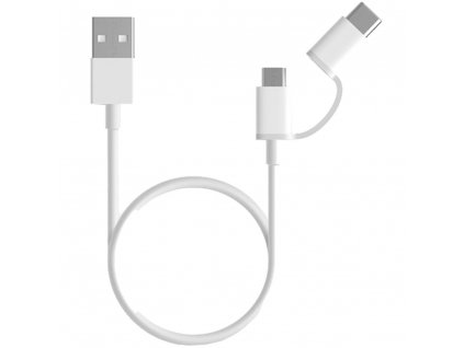 Xiaomi 2 in 1 USB Cable Micro USB to Type C 30cm White