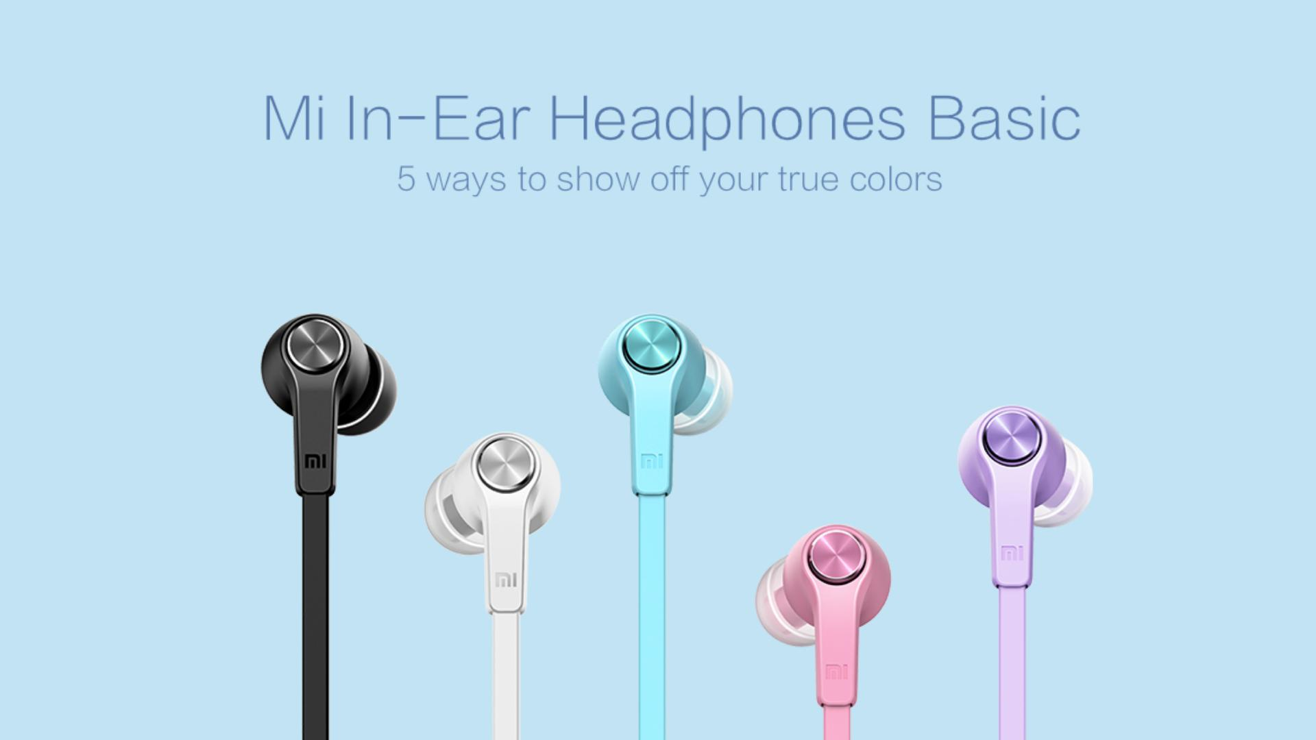 Xiaomi Mi In-Ear Headphones Basic sluchátka 3,5 mm jack piston - barevne