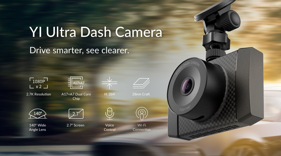 1 YI Ultra Dash Camera - autokamera