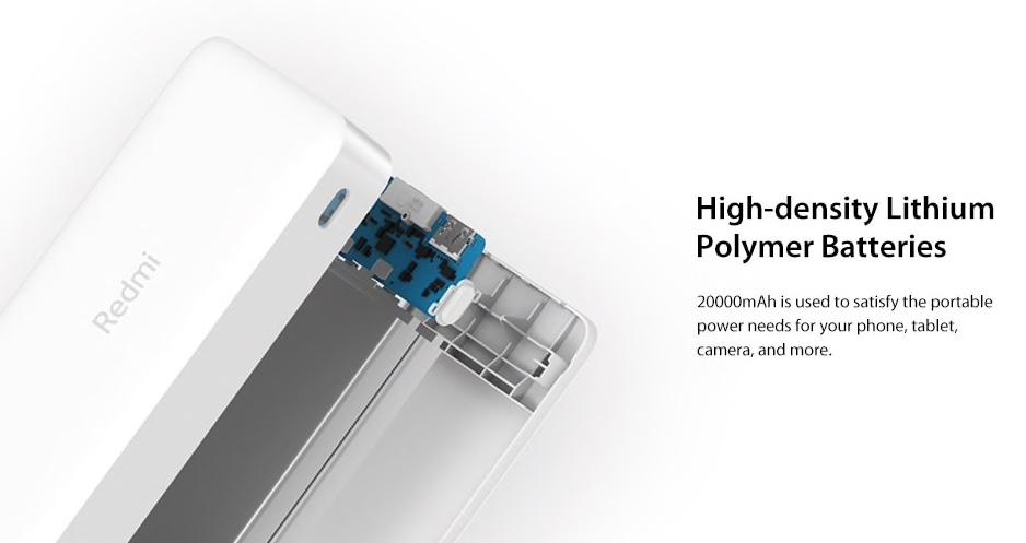 Xiaomi 20 000 mAh Redmi 18W Fast Charge Power Bank baterie