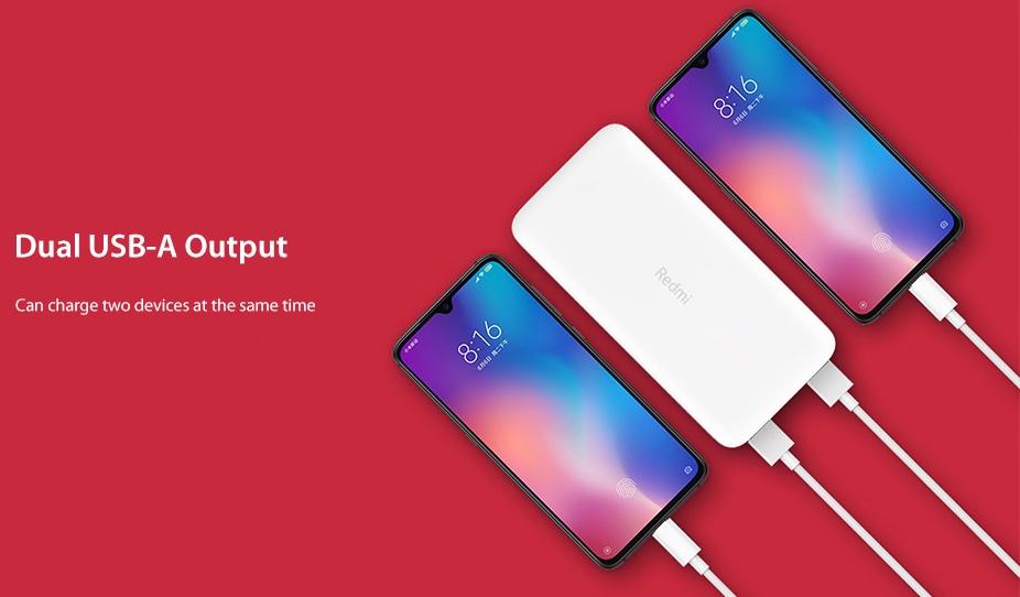 Xiaomi 20 000 mAh Redmi 18W Fast Charge Power Bank doporuceni
