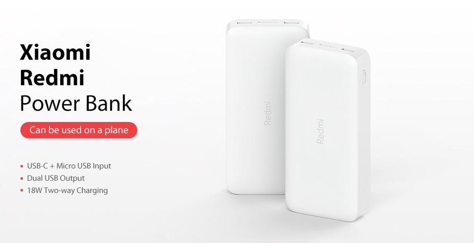Xiaomi 20 000 mAh Redmi 18W Fast Charge Power Bank