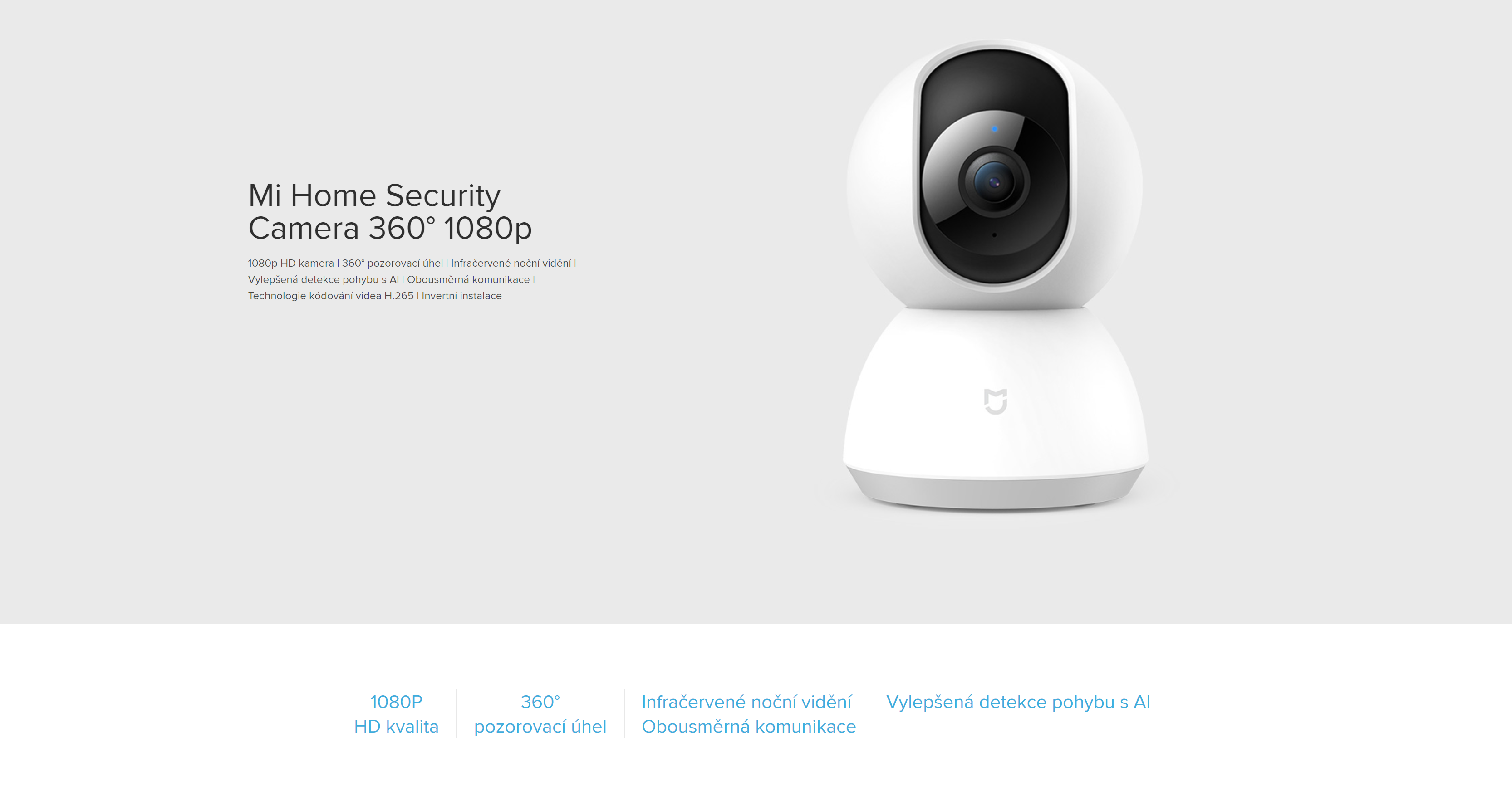 Xiaomi Mi Home Security Camera 360 1080P - Chytrá IP bezpecnostni kamera 1