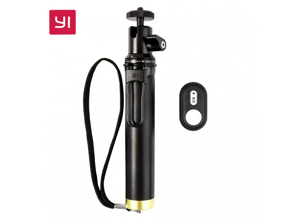 YI Selfie Stick and Bluetooth Remoter For YI Action Camera Sports Mini Camera Smart Cellphones YI selfie tyčka tyč dálková spoušť xiaomimarket istage černá