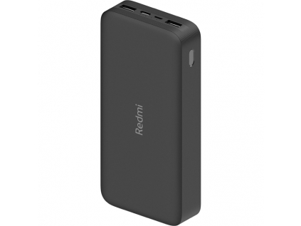 Xiaomi 20 000 mAh Redmi 18W Fast Charge Power Bank cerna black