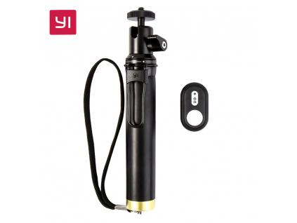 YI Selfie Stick and Bluetooth Remoter For YI Action Camera Sports Mini Camera Smart Cellphones YI selfie tyčka tyč dálková spoušť xiaomimarket istage černá