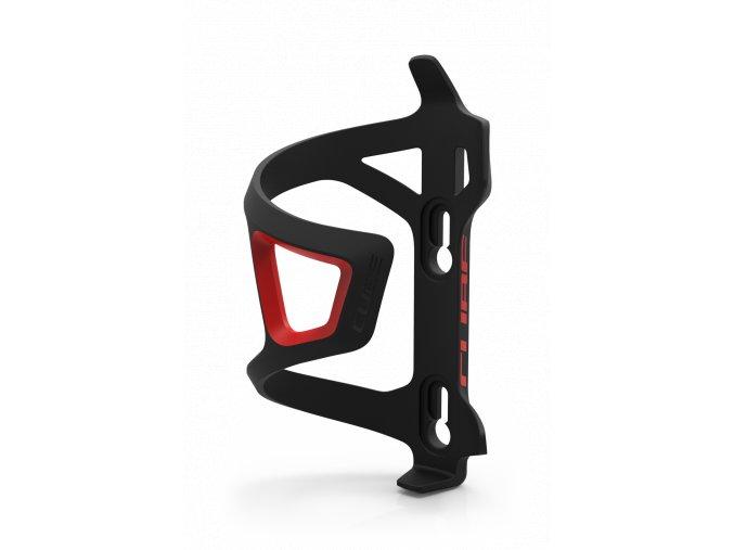 Stranový košík na láhev CUBE černý/cerveny