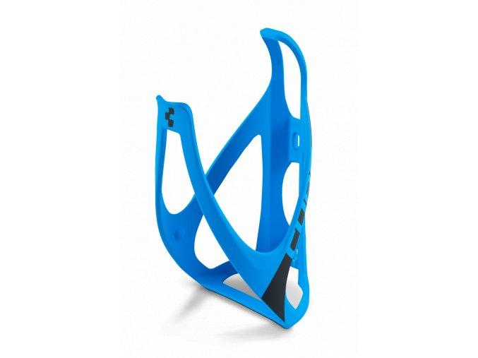 Košík na láhev CUBE matný modrý/černý