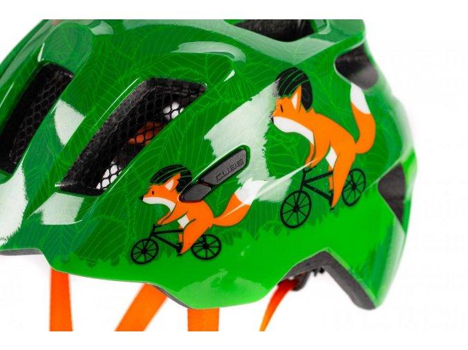 Dětská cyklistická helma CUBE Fink green