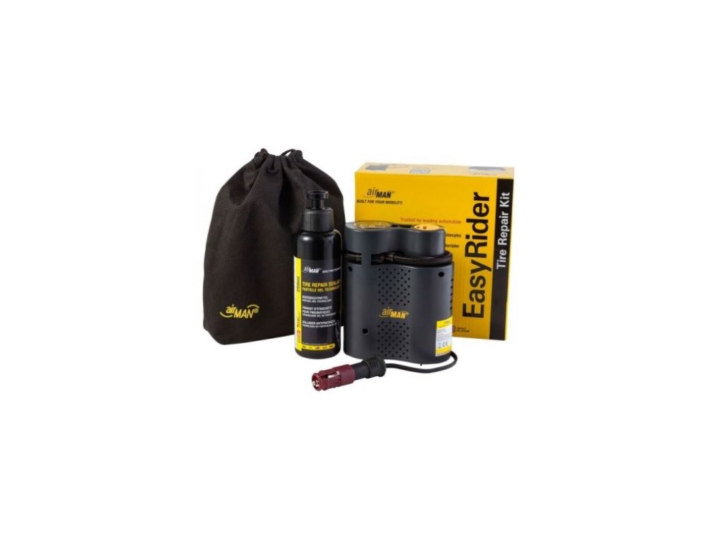 airman easy rider 12v compressor 250 ml tire sealeant kit kompresor opravna sada pneu ctyrkolka motorka