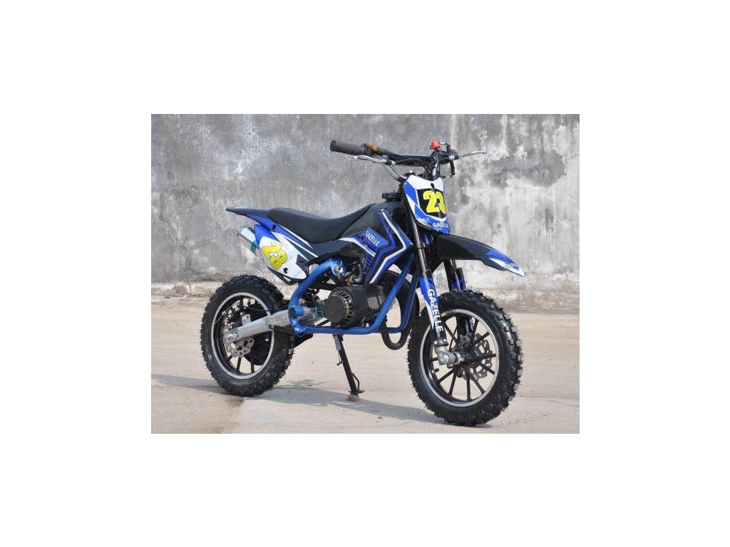 minicross gazelle deluxe 49cc 2t 50 detska motorka mala levna kvalitni se zarukou pribram modra