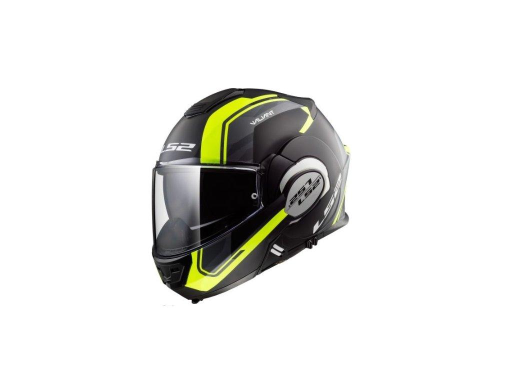 prilba ls2 ff399 valiant line matt black h v yellow prilba helma jablonna
