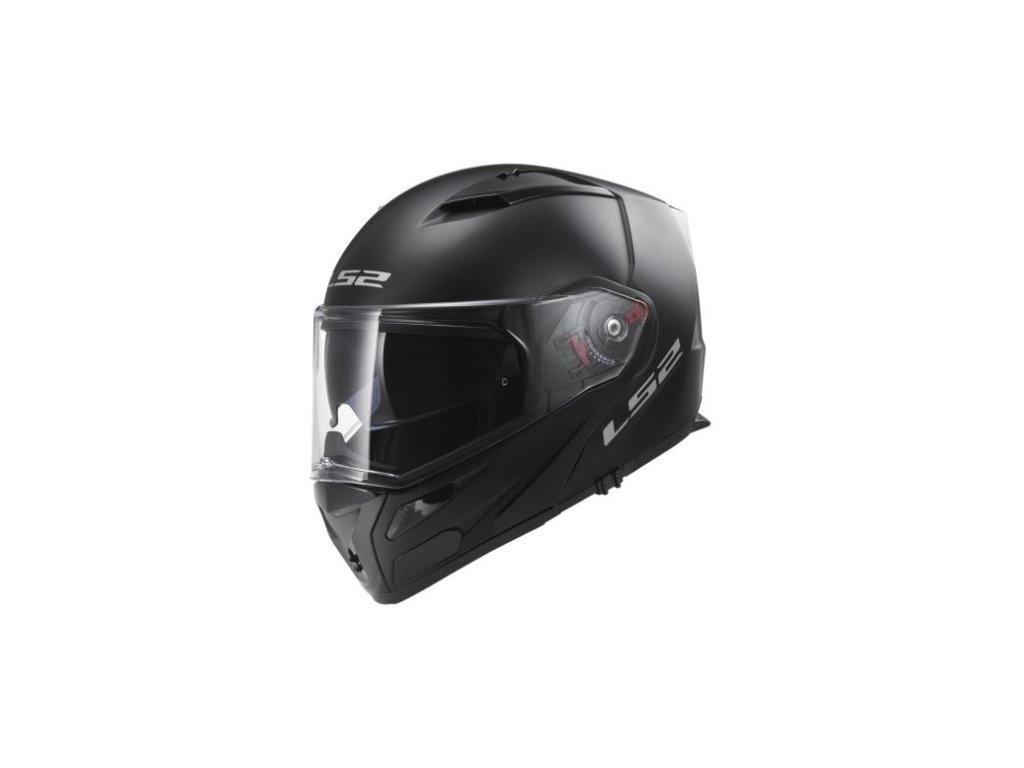 prilba ls2 ff324 metro solid matt black fog fighter pinlock cerna vyklopna helma clona