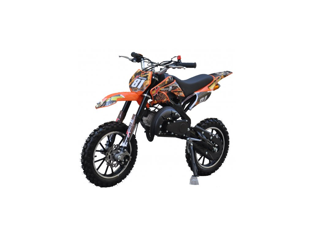 motocykl minicross 49cc 2t apollo detska motorka levna mala