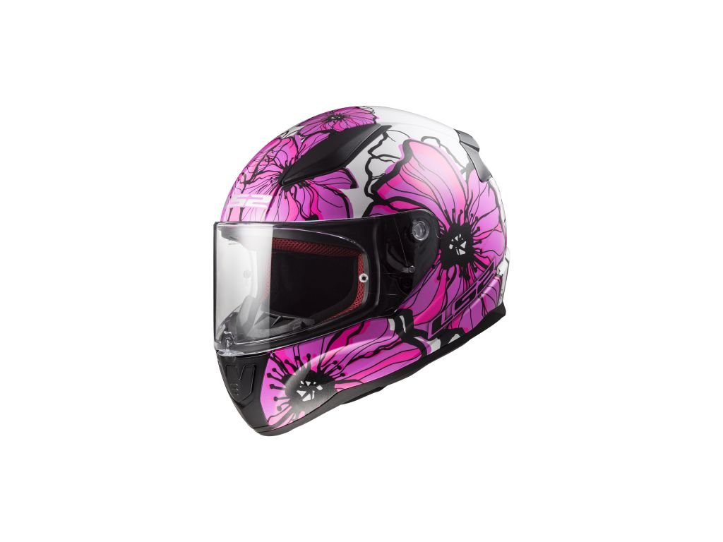 ff353 rapid poppies pink helma ls2