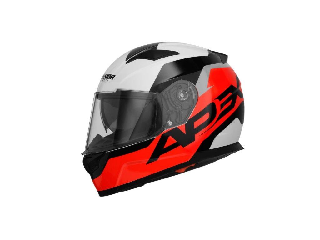 prilba apex contrast cassida cr zluta fluo cerna bila seda baleni vc pinlock cervena kvalitni levna helma pribram praha jablonna moto shop