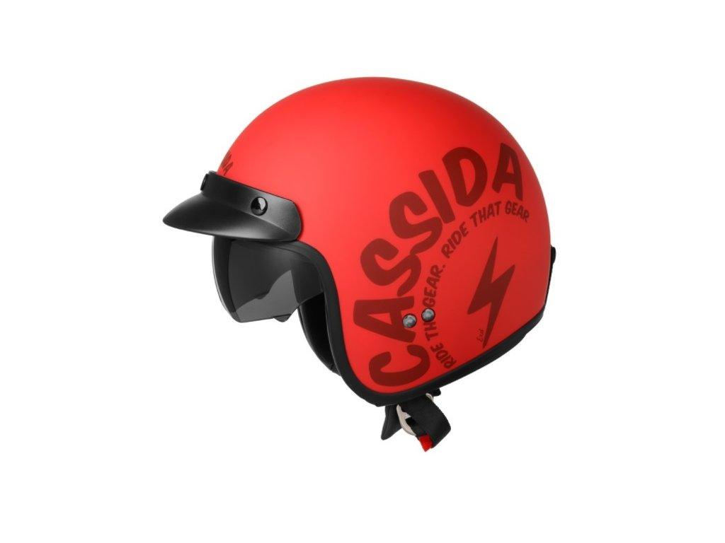 prilba oxygen gear cassida helma ceska cervena cerna retro na skut chopper