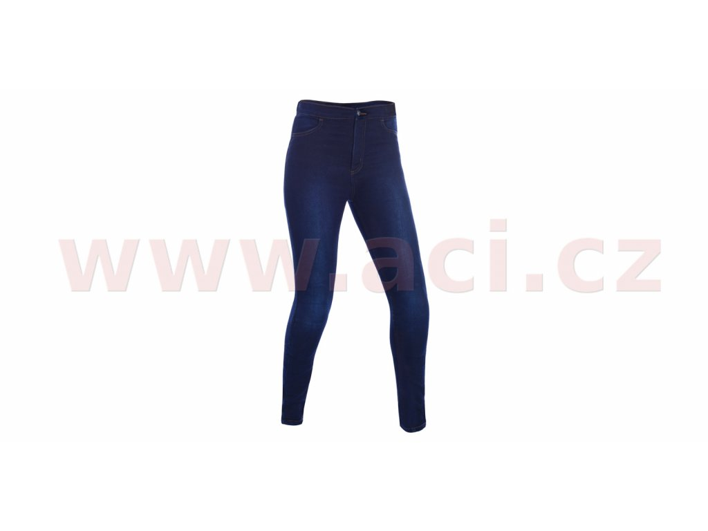 m111 39 zkracene kalhoty jeggings oxford damske leginy s kevlar podsivkou modre indigo i352689