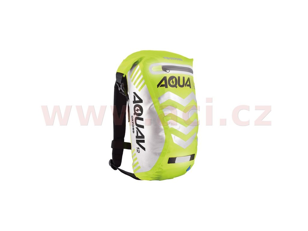m006 166 vodotesny batoh aqua v12 extreme visibility oxford anglie zluta fluo reflexni prvky objem 12 l i265689