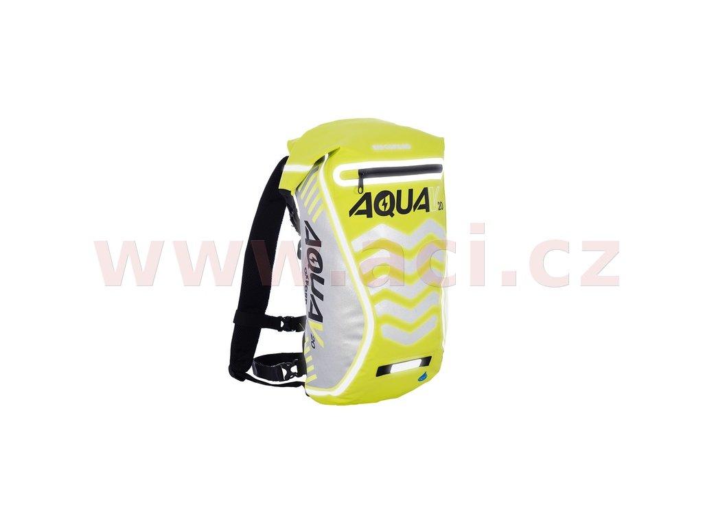m006 130 vodotesny batoh aqua v20 extreme visibility oxford anglie zluta fluo reflexni prvky objem 20 l i199603