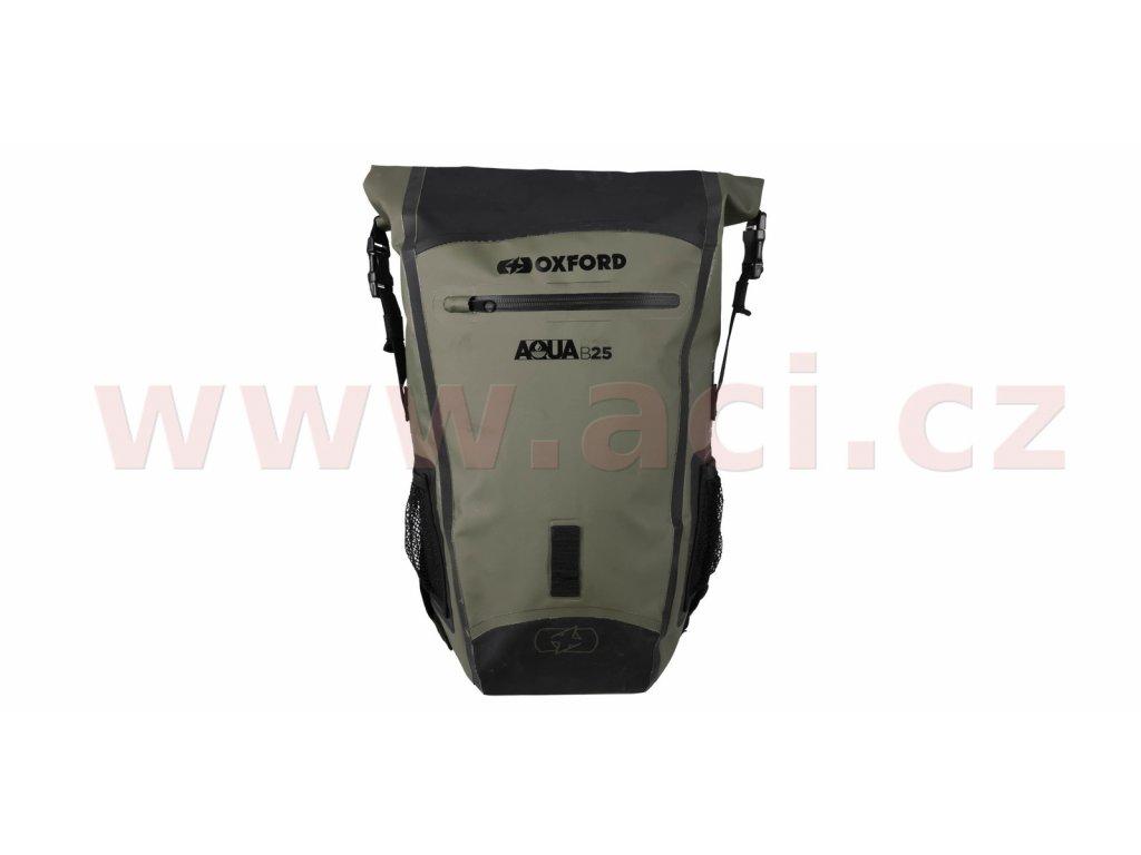 m006 288 vodotesny batoh aqua b 25 oxford khaki cerny objem 25 l i359580 (1)