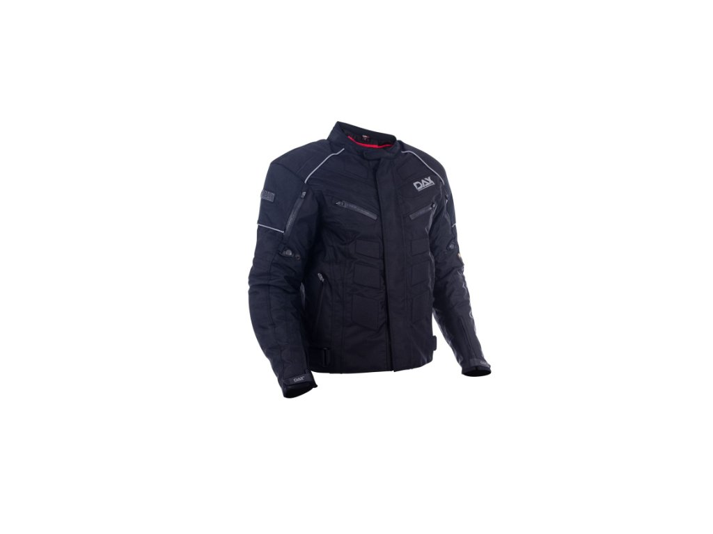 dax bunda textile long jackets made of maxdura soft shell with lining do terenu protectors black