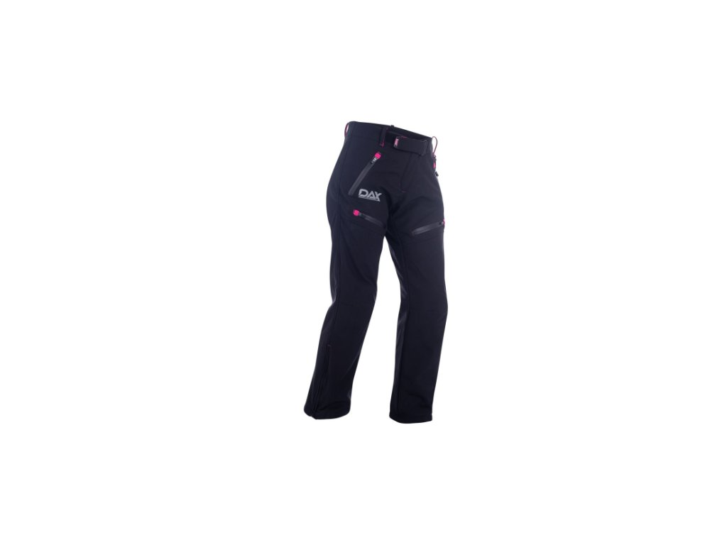 dax lady soft shell pants made of soft shell fabric with lining protector b pink kalhoty damske